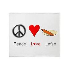 Peace Love Lefse Throw Blanket