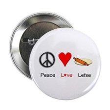 "Peace Love Lefse 2.25"" Button"