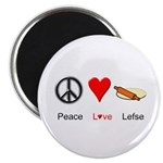 "Peace Love Lefse 2.25"" Magnet (10 pack)"