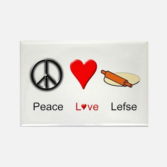 Peace Love Lefse Rectangle Magnet