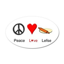 Peace Love Lefse Wall Decal