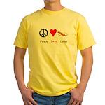 Peace Love Lefse Yellow T-Shirt