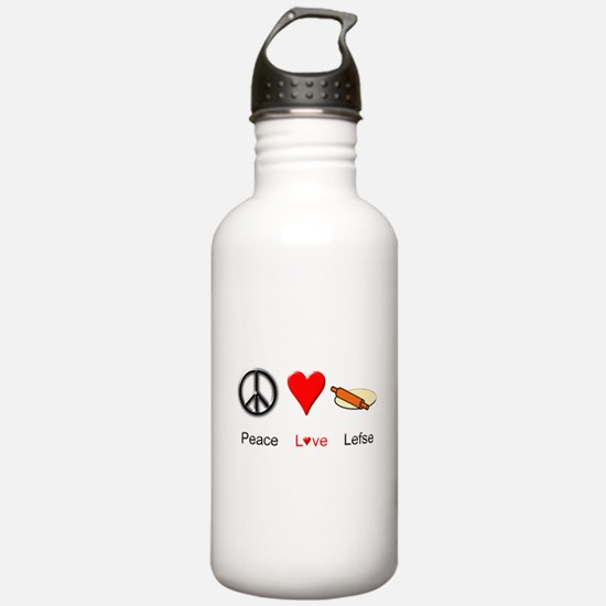 Peace Love Lefse Water Bottle