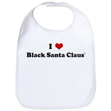 I Love Black Santa Claus' Bib