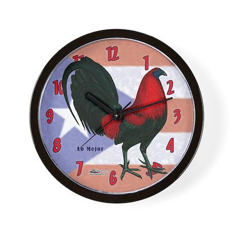 Puerto Rico Gamecock Wall Clock