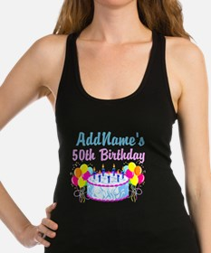 HAPPY 50TH PARTY Racerback Tank Top