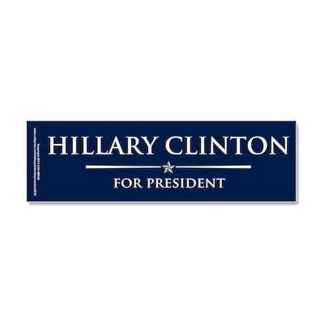 Vote Hillary Clinton Car Magnet 10 x 3