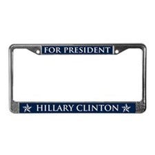 Vote Hillary Clinton License Plate Frame