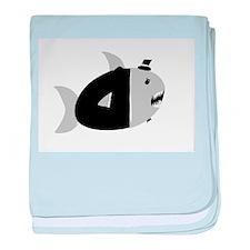 Fancy Shark baby blanket
