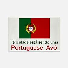 Happy Portuguese Avo (Grandmother) Rectangle Magne