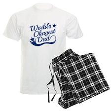 Worlds Okayest Dad Blue Pajamas