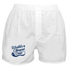 Worlds Okayest Dad Blue Boxer Shorts