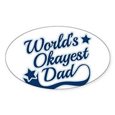 Worlds Okayest Dad Blue Decal