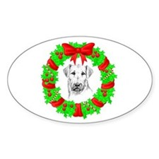 Airedale Christmas Decal