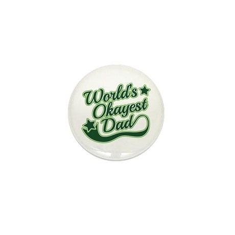 World's Okayest Dad Green Mini Button (100 pack)