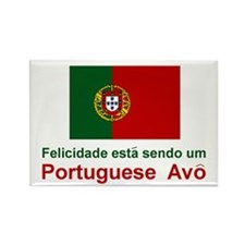 "Happy Portuguese Avo (Grandfather) Magnet 3""x2"""