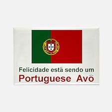 """Happy Portuguese Avo (Grandfather) Magnet 3""""x2"""""""