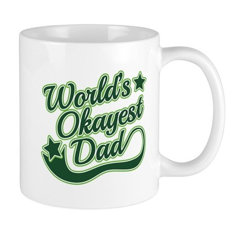 World's Okayest Dad Green Mug