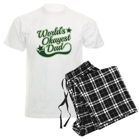 World's Okayest Dad Green Men's Light Pajamas