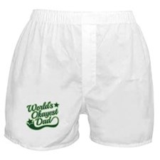 World's Okayest Dad Green Boxer Shorts
