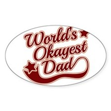 World's Okayest Dad Red Decal