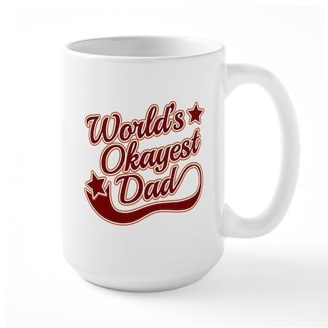 World's Okayest Dad Red Large Mug