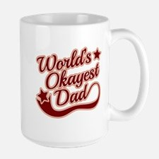 World's Okayest Dad Red Mug