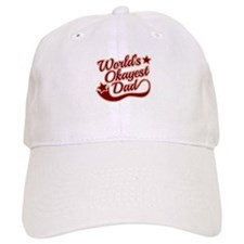 World's Okayest Dad Red Baseball Cap