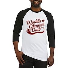 World's Okayest Dad Red Baseball Jersey