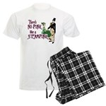 No Punk Like a Steampunk Men's Light Pajamas