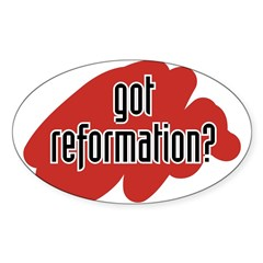 reform yourself Oval Decal