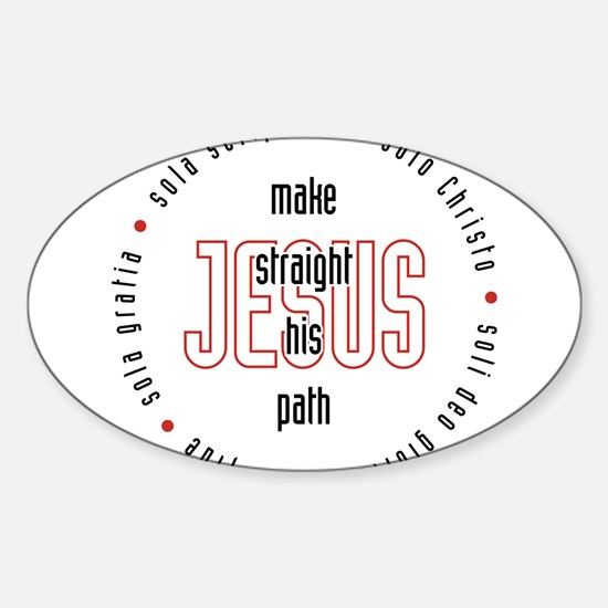 straight path Oval Decal