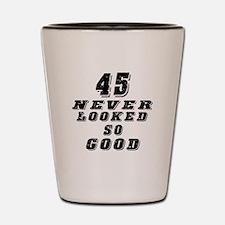45 Birthday Designs Shot Glass