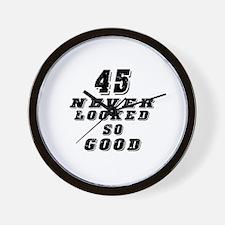 45 Birthday Designs Wall Clock