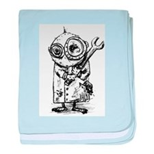 Gribble - the best little scientist baby blanket