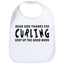 Dear God Thanks For Curling Bib