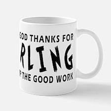 Dear God Thanks For Curling Mug