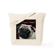 Cute I Love Pugs Tote Bag