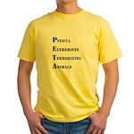 Anti-PETA Yellow T-Shirt