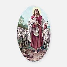 The Lamb of God Oval Car Magnet