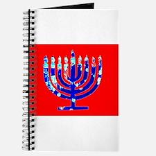 Red Blue Menorah Hanukkah 4Nina Journal