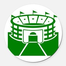 Green Stadium Round Car Magnet