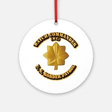 US Border Patrol - Watch CDR Ornament (Round)