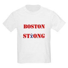 Boston Strong Red and White Ribbon T-Shirt