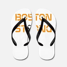 Boston Strong Black and Gold Flip Flops