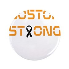 """Boston Strong Black and Gold 3.5"""" Button"""
