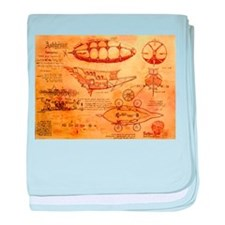Steampunk Airship baby blanket