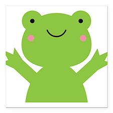 "Frog Square Car Magnet 3"" x 3"""