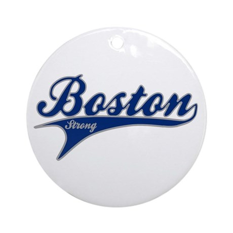 Boston Strong Ballpark Swoosh Ornament (Round)