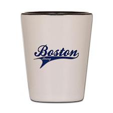 Boston Strong Ballpark Swoosh Shot Glass